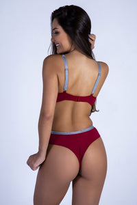 Red RMC Push-up Bra and Hiphugger Thong