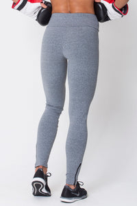 Heather Grey Zip Up Leggings