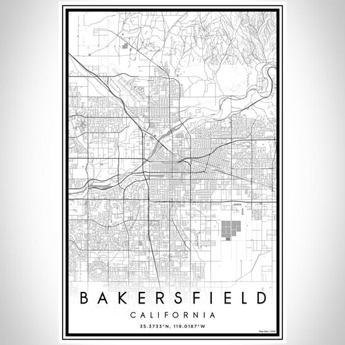 Bakersfield - California Classic Map Print