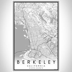 Berkeley - California Classic Map Print