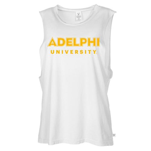 NCAA Adelphi Panthers RYLADU06 Women's Muscle Tee Shirt
