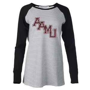 NCAA Alabama A&M Bulldogs PPAMU03 Women's Striped Thumbhole Long Sleeve