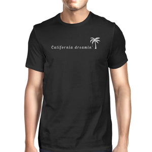 California Dreaming Mens Black T-Shirt Lightweight Summer Shirt