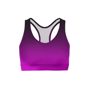 Black Pink Ombre Sports Bra