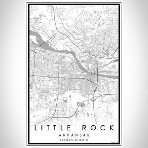 Little Rock - Arkansas Classic Map Print