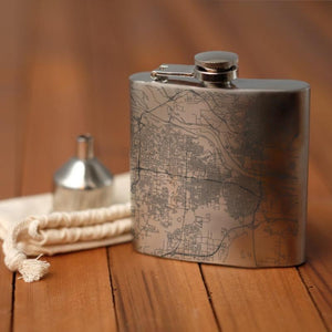 Little Rock - Arkansas Map Hip Flask