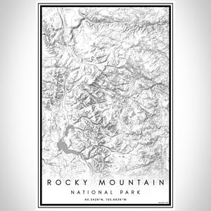 Rocky Mountain National Park - Colorado Classic Map Print