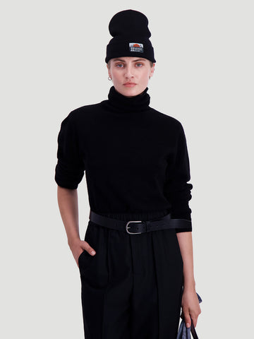 Meldal knit turtleneck zwart