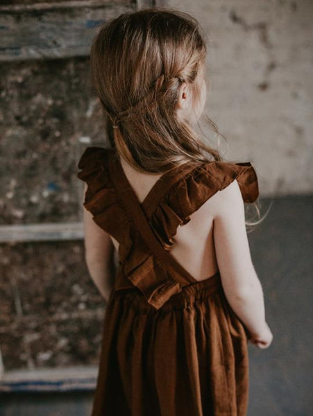 Linen Pinafore rust