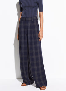 Plaid Wide Leg Pant