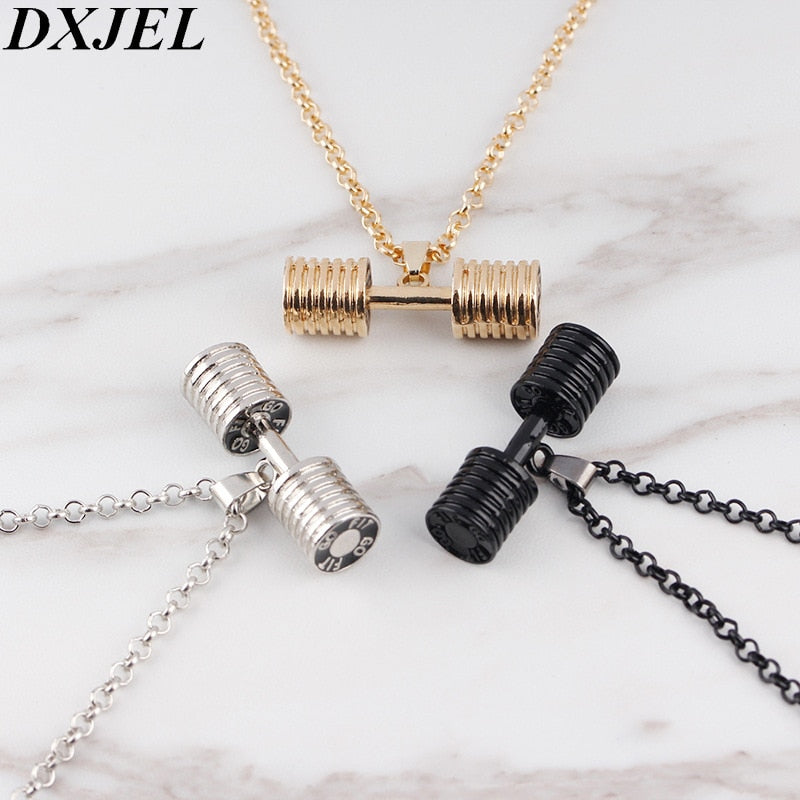 Men & Women Dumbbell Necklace