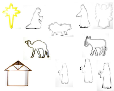 Stable Livestock Horse Cattle Christmas Nativity Scene Fondant Stamp Cutter Or Cupcake Topper Size 1.75 USA FD2223