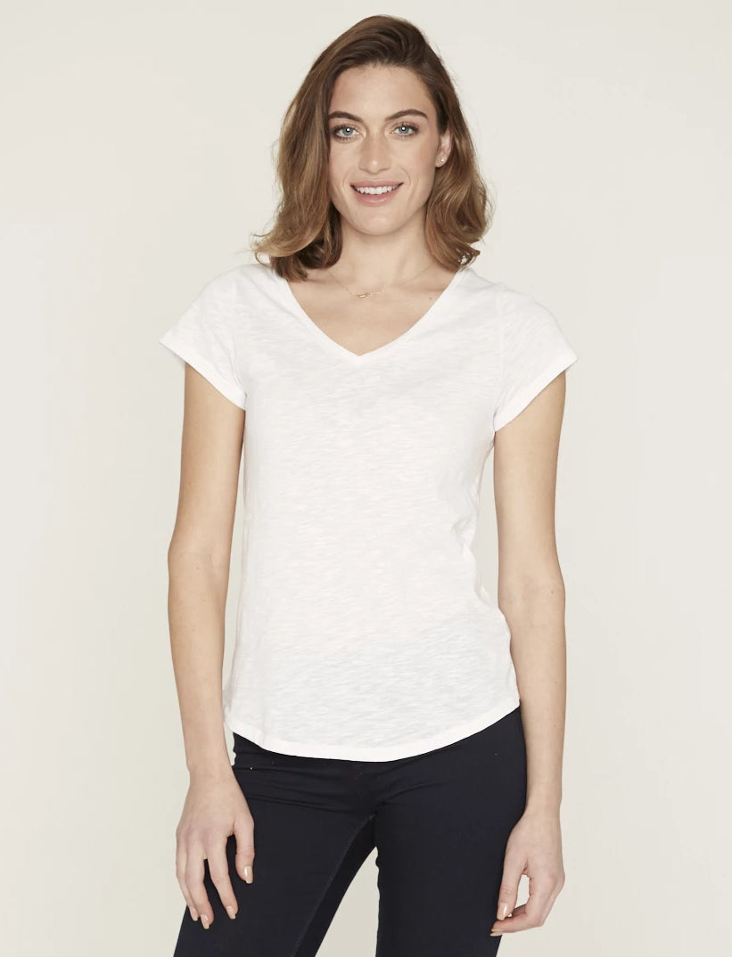 8d1c25c1eae3 Organic Cotton T-Shirt V Neck White | THE NATURAL EDITION – The ...