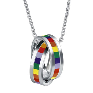 Rainbow Pride Necklace and Pendant