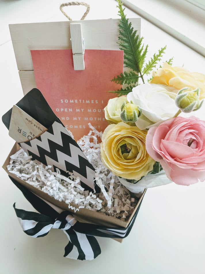 Gift Card Flower Box