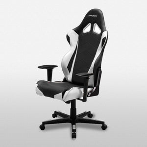 DXRacer OH/RE0/NW Black/White Racing Series Gaming Chair