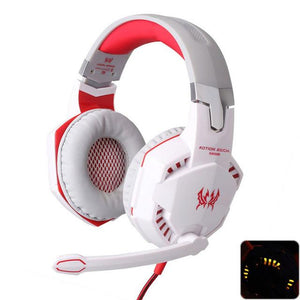 Deep Bass Gamer Headset White / United States Gaming Headsets Racer Chairs