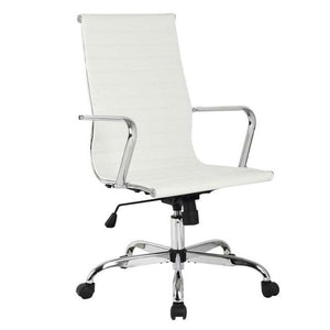 Eames Style Executive Leather High Back Gaming / Office Chair United States Hw51438Wh Chairs Racer