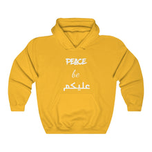Peace be on you English and Arabic Typography - Unisex Heavy Blend™ Hooded Sweatshirt