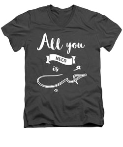 All You Need Is Love- English And Arabic Typography - Men's V-Neck T-Shirt
