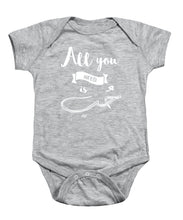 All You Need Is Love English And Arabic Typography - Baby Onesie