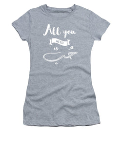 All You Need Is Love - English And Arabic Typography - Women's T-Shirt