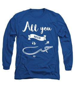 All You Need Is Love English And Arabic Typography - Long Sleeve T-Shirt