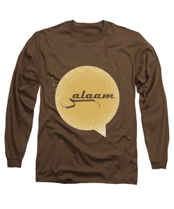 Salaam Typography In Arabic And English  - Long Sleeve T-Shirt