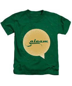 Salaam Typography In Arabic And English  - Kids T-Shirt