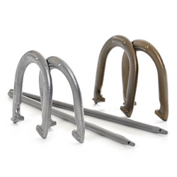 Steel Horseshoes Set