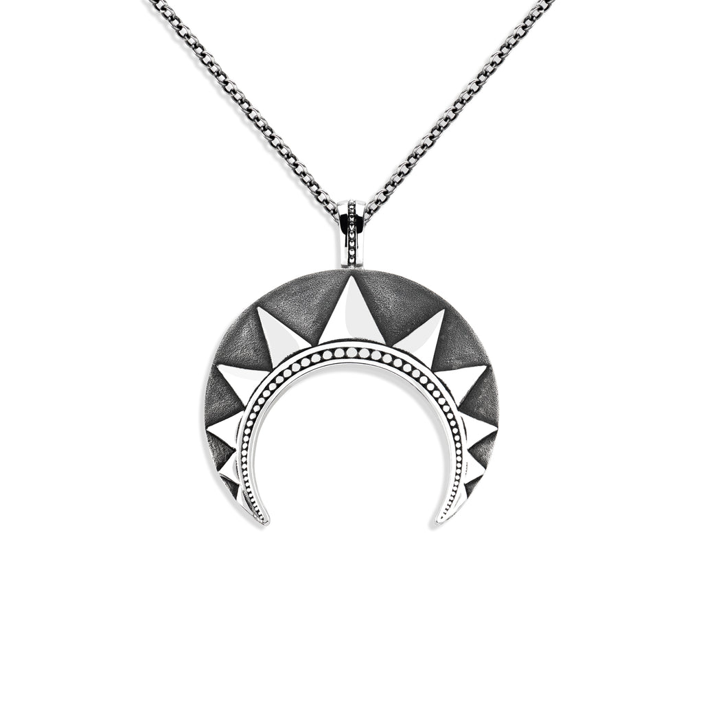 Ultra Large Radial Crescent Pendant
