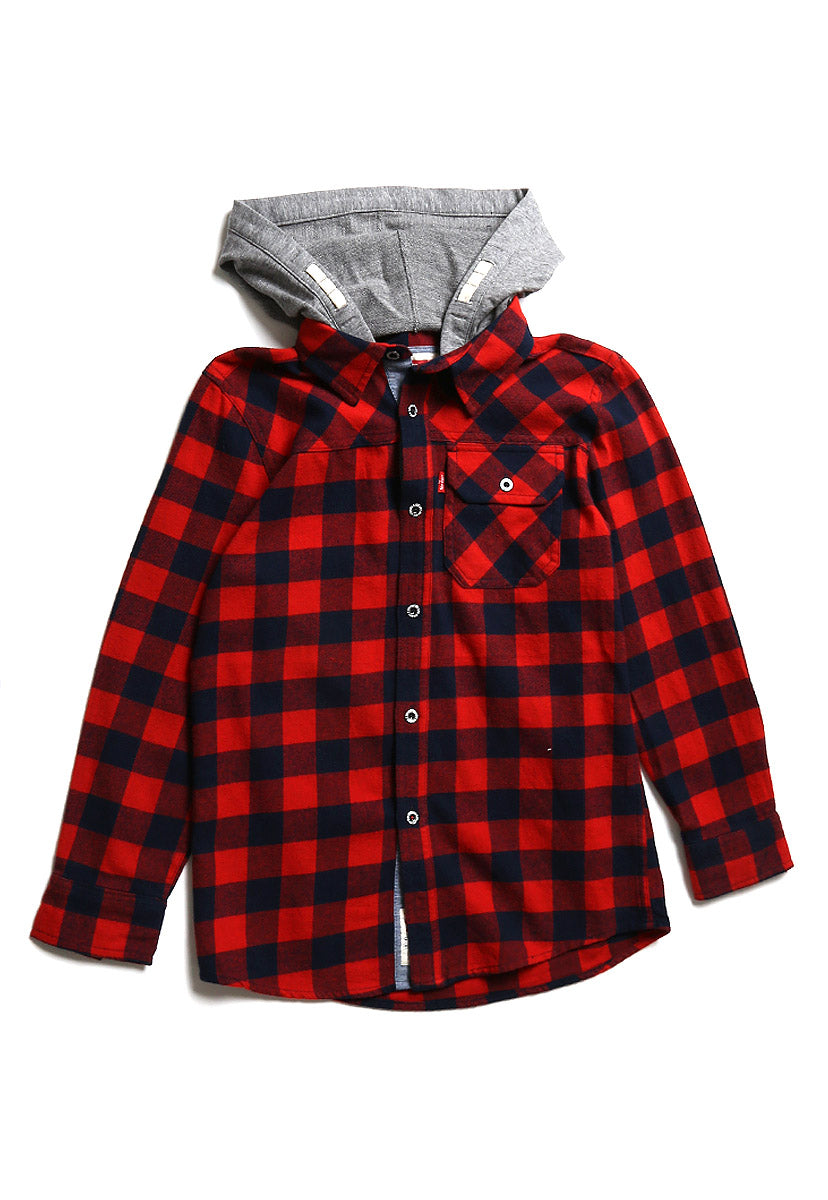 Boys (8-18A) Camisa Rockville con Gorro Pompeian Red