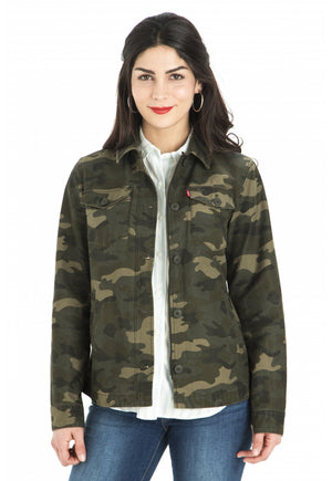 Camo Shirt Brushed Cotton Twil