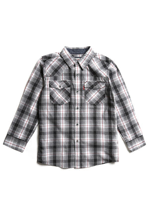 Boys (8-18A) Camisa Barstow Western Grey Heather