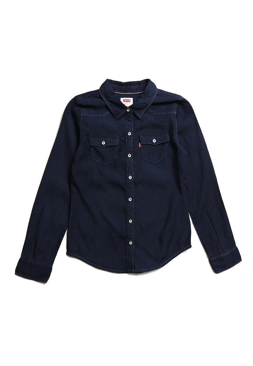 Girls (4-6XA) Blusa Denim Midnight Cove