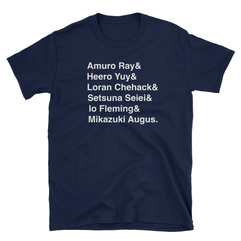 Popular Gundam Pilots T-Shirt V2