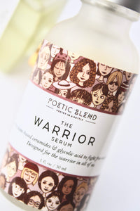 The Warrior face serum | Glycolic acid, retinol natural pure plant based ingredients | cruelty free