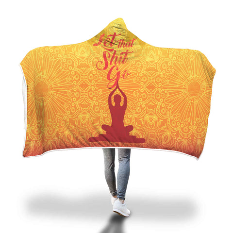 Snuggly Yoga Hooded Blanket