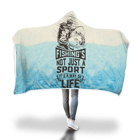 Snuggly Fishing Hooded Blanket