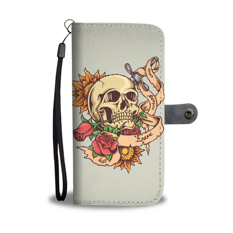Awesome Skull Wallet Case