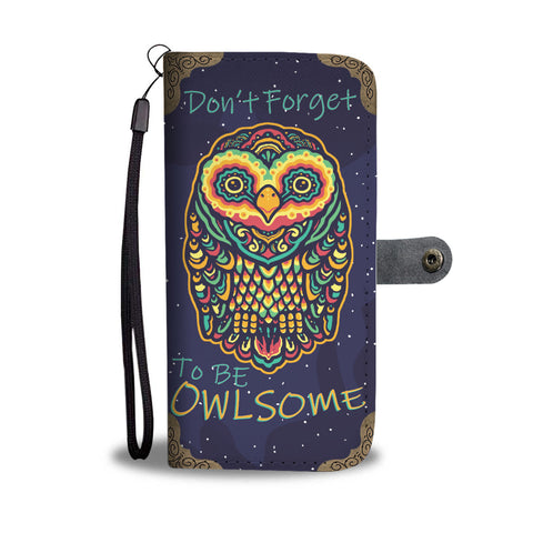Owl Phone Wallet Case