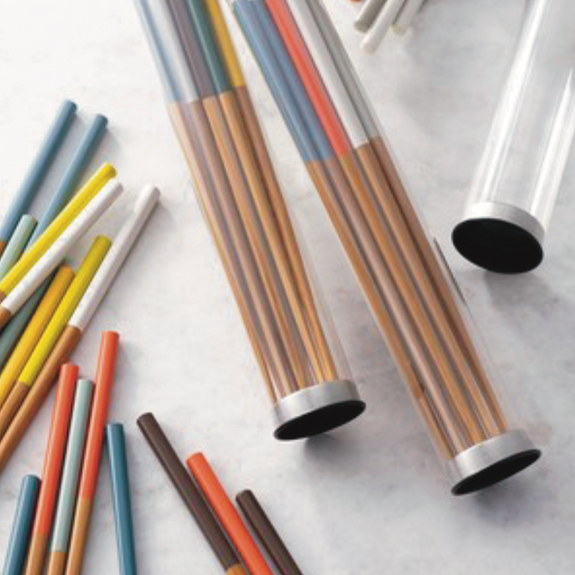 tab. lab. : colour dipped chopsticks $21.95 (min 2 units)