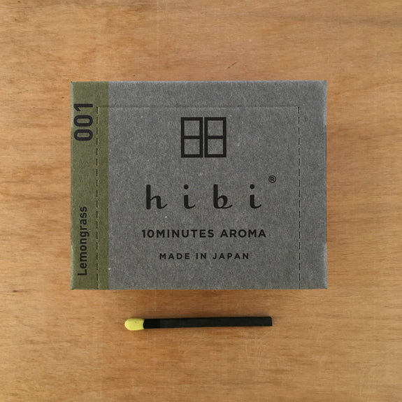 hibi 10 minute incense : modern scent large box