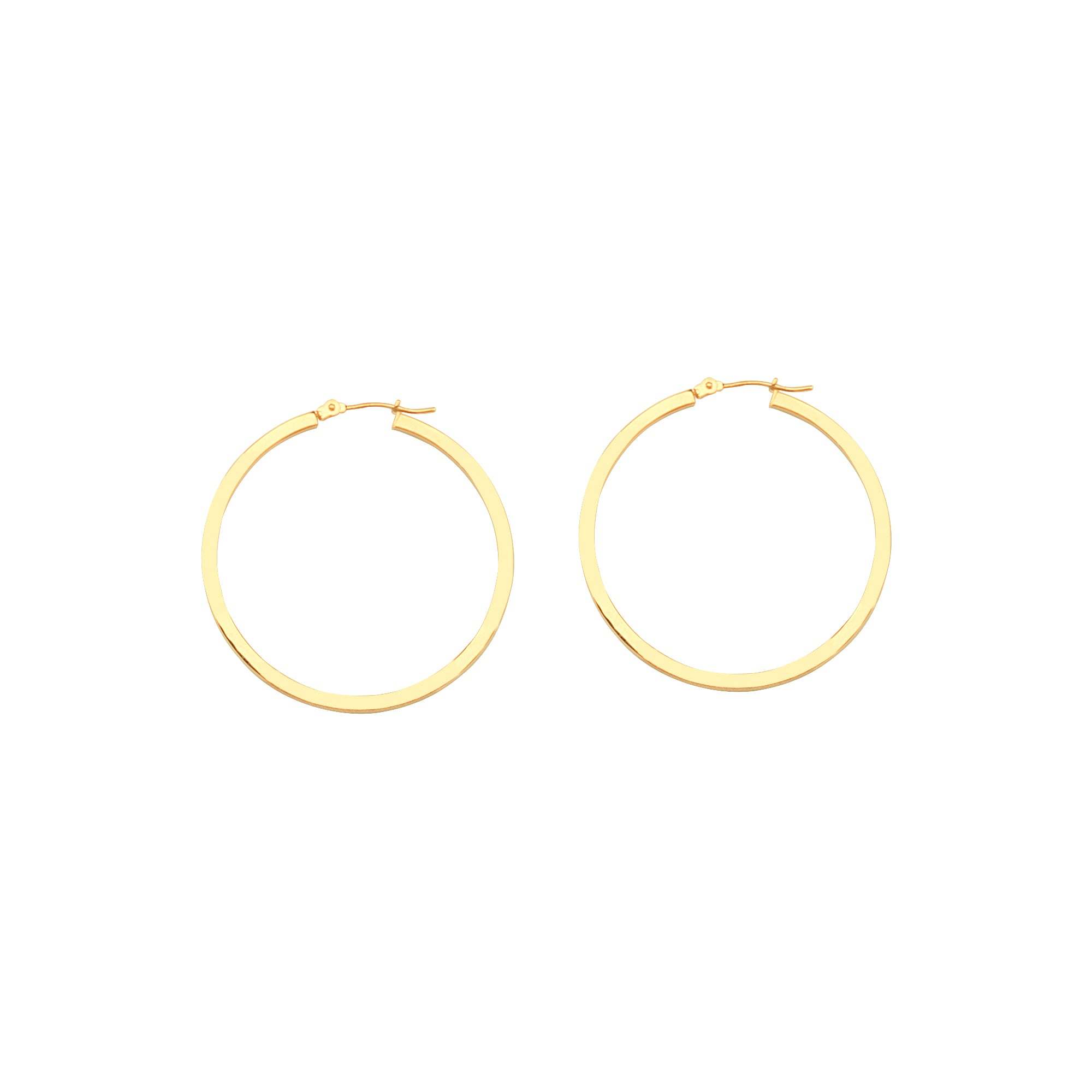 Box Hoop Earrings