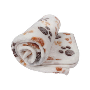 Foot Print Warm Pet Blanket | Foot Print | Sleeping Mattress | Coral Fleece