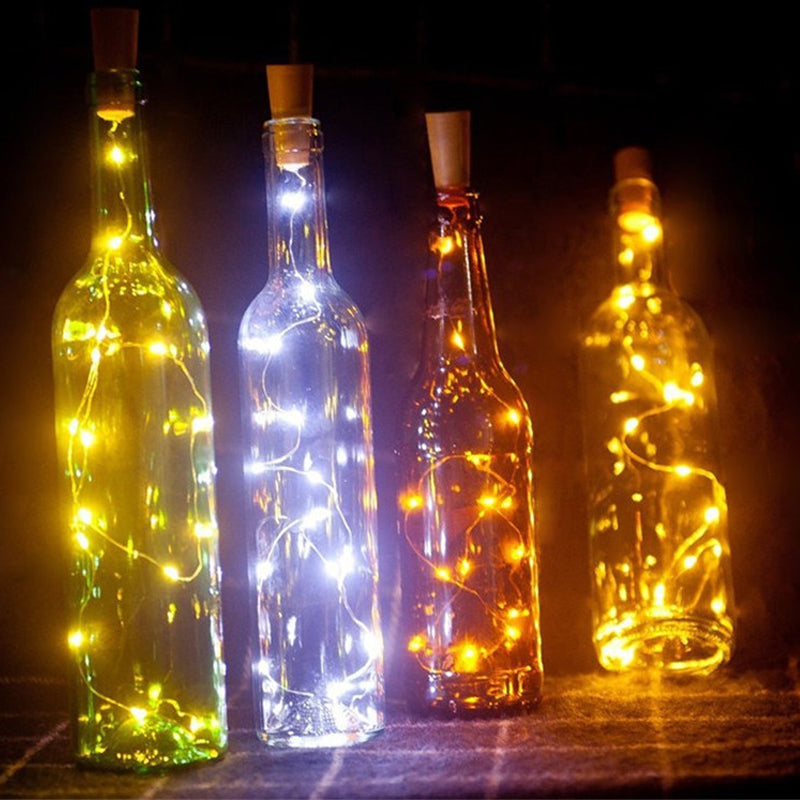 DIY BOTTLE LIGHTS | wine bottle lights | Cork Light | LED lights