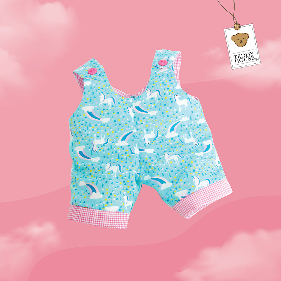 OUTFIT BEAR PRINTED DUNGAREES 12 INCHI