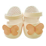 SHOES CREAM BUTTERFLY