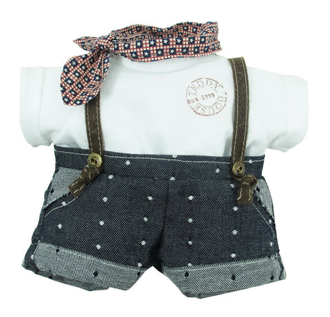 "DUNGAREES W/ T-SHIRT 10"" TEDDY IN COUNTRY"