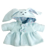 DRESS WITH BUNNY HOOD BLUE 12 INCHI